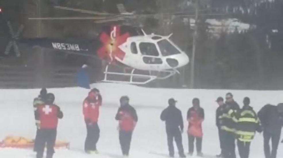 Man transported to hospital after suffering snowboard accident at